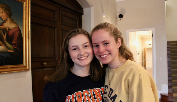 """Humans of Sacred Heart"" – Kristen Walsh '19 and Meredith Wilson '19"