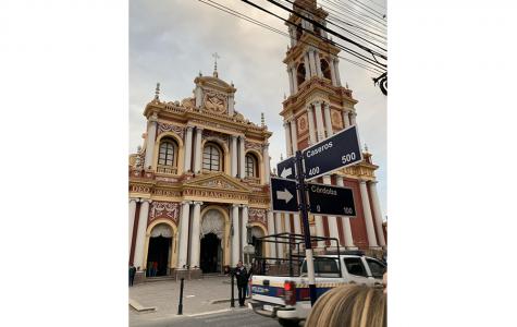 "Art of the Week – ""St. Francis Church, Salta"" –  Mia Lopez del Punta '21"