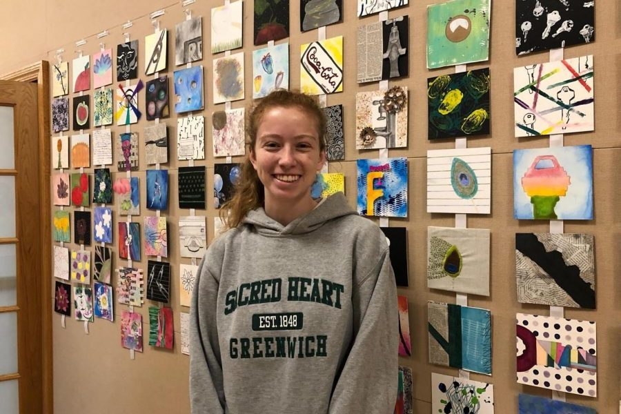 Nicole Mellert '20 is the club head of the Art from the Heart Club in the Upper School.  Sydney Kim '20