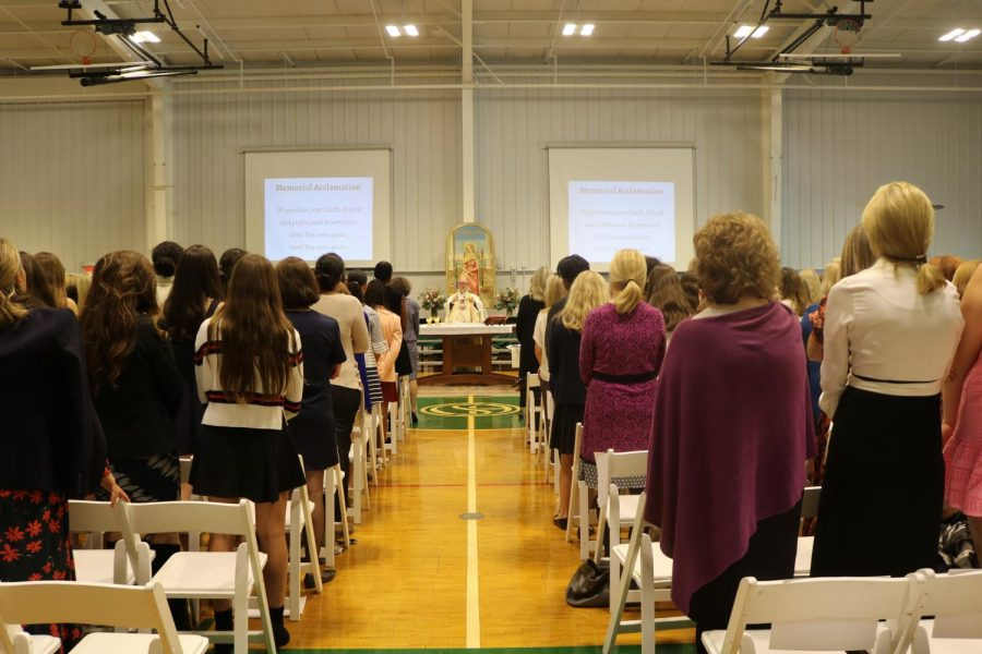 Students honor their mothers at the Mother Daughter Liturgy