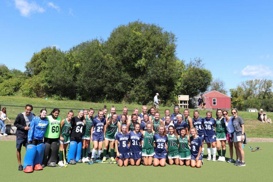 The Sacred Heart Greenwich varsity B field hockey team tied the Newton Country Day varsity field hockey team 0-0.