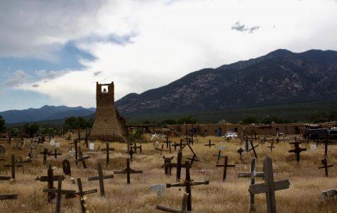 """Art of the Week –  """"Taos Graveyard"""" – Mae Harkins '20"""