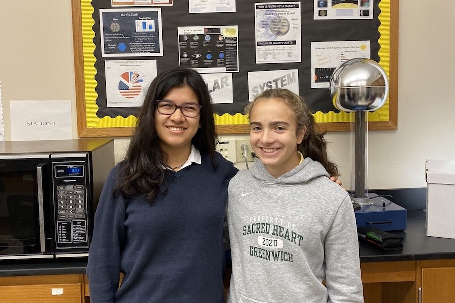Sydney Kim '20 and Elisa Howard '20 are the co-captains of the Upper School Robotics Team.  Sydney Gallop '20