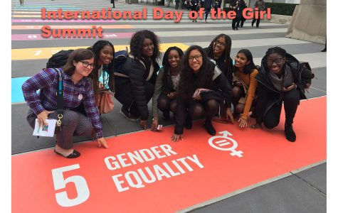 Students attend the United Nations Day of the Girl Summit