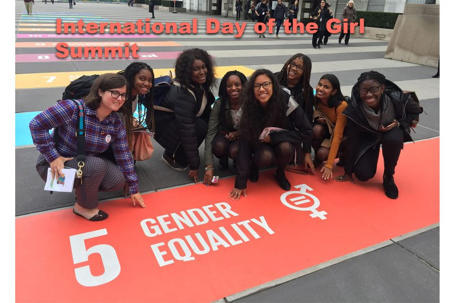 Eight Sacred Heart Greenwich students participated in the 2019 United Nations (UN) International Day of the Girl Summit, October 11