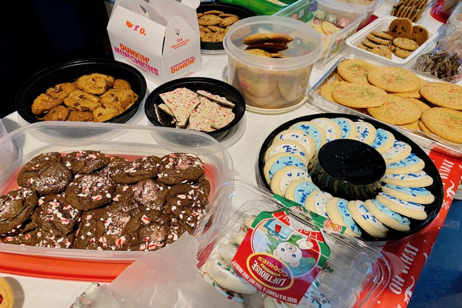 The cookie stocks for this year's Cookie Exchange were in high demand.