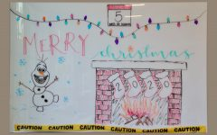 "Art of the Week – ""Christmas Whiteboard"" – Mae Harkins '20"