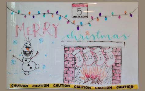 "Art of the Week – ""Christmas Whiteboard"" – Mae Harkins '20"