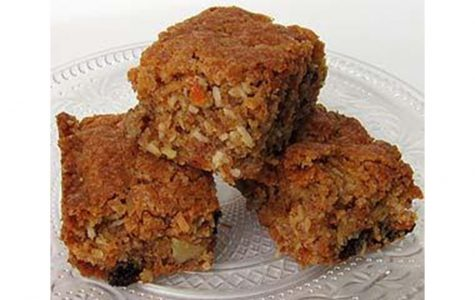 These carrot-orange-coconut bars are a sentimental part of Mr. Meyer's Christmas.