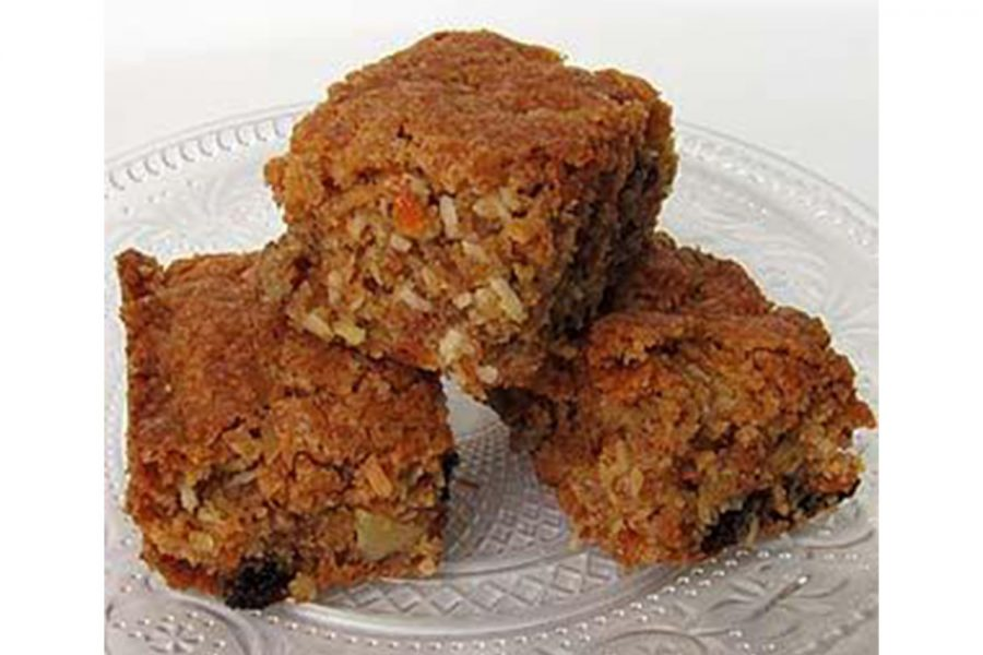 These+carrot-orange-coconut+bars+are+a+sentimental+part+of+Mr.+Meyer%27s+Christmas.+