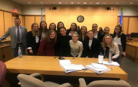 Fourteen Sacred Heart Greenwich students participated in the Civics First High School Mock Trial competition December 13, 2019.