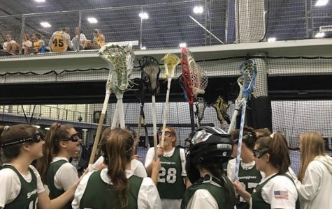 Varsity lacrosse competes in the Indoor National Championship