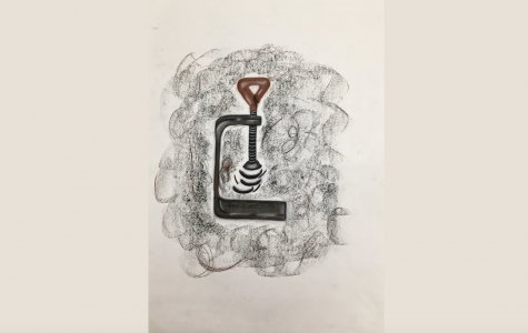 """Art of the Week –  """"Spinning Out of Control"""" – Emma Kate Smith '21"""