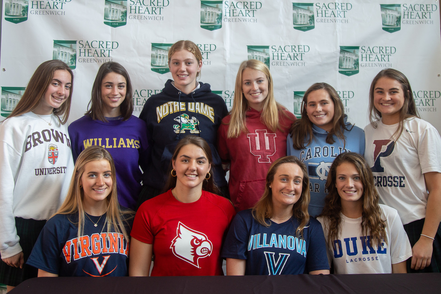 Senior student-athletes celebrate their National Letter of Intent signing day.