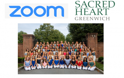 Sacred Heart Greenwich students use the application Zoom for distance learning in the midst of the COVID-19 pandemic.