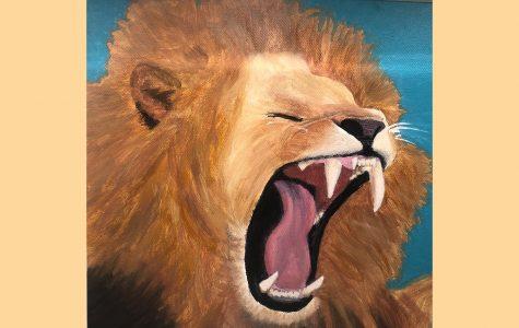 """Art of the Week – """"Roar"""" – Vivi Caruso '23"""