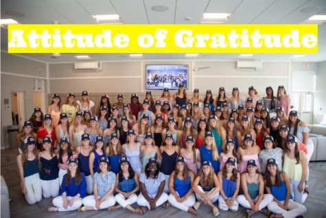 "For the 2019-2020 academic year, the Class of 2020 selected the Upper School theme of an ""Attitude of Gratitude."""
