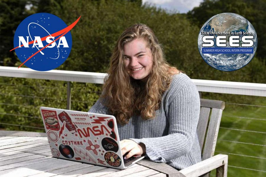 Piper Gilbert '21 was one of only two students in Connecticut selected to participate in the NASA SEES Summer High School Intern Program this summer.