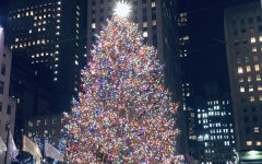 The 2018 Rockefeller Christmas tree shone brightly at the heart of Rockefeller Plaza.