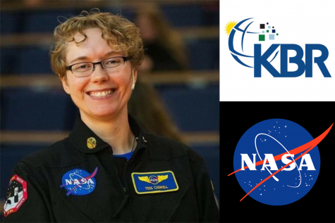 Dr. Tess Caswell discusses space exploration with the Upper School