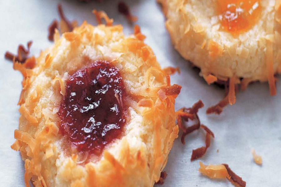 Mrs. Martin's favorite Christmas treat are these Jam Thumbprint Cookies.