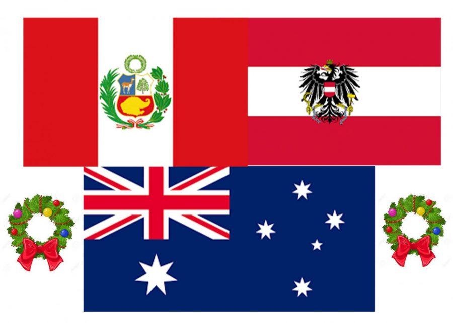 Peru, Austria, and Australia all celebrate Christmas in their own distinct ways.