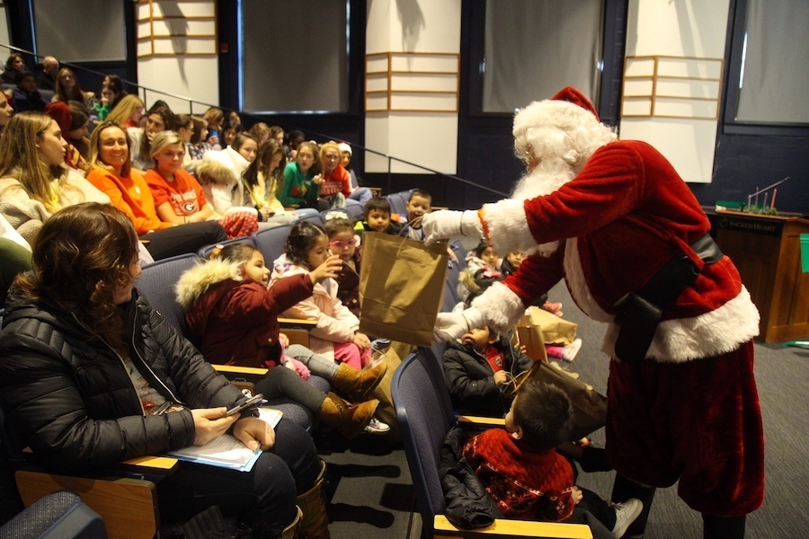 The children from the Carver Center visited Sacred Heart last holiday season.