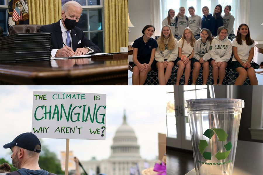 The current administration takes action to enact policies that help slow climate change.
