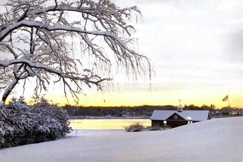 "Art of the Week – ""Snowy Sunset"" – Isobel Cunningham 22"