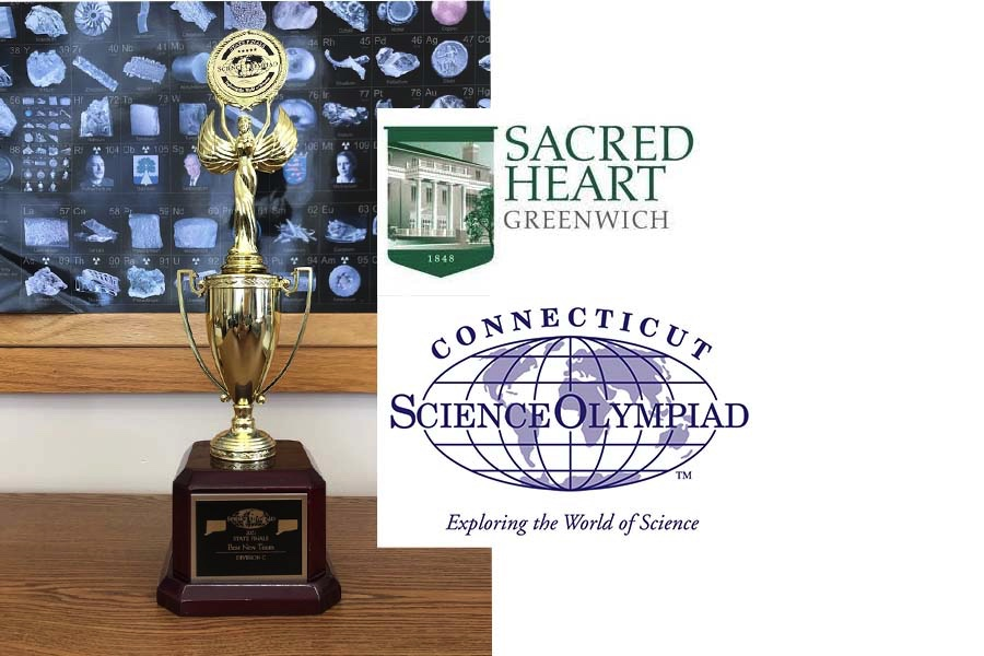 The Sacred Heart Greenwich Science Olympiad Team emerges with the Best New Team Award at the Connecticut State Tournament.