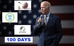 In his first 100 days as president, Mr. Biden focused his efforts on bringing about racial justice, as well as fighting the coronavirus epidemic and climate change.