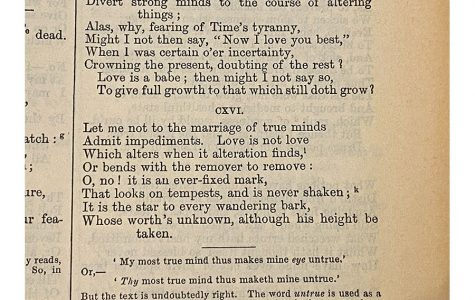 """Caitlin McCormack '21: Sonnet 116, """"Let me not to the marriage of true minds"""""""