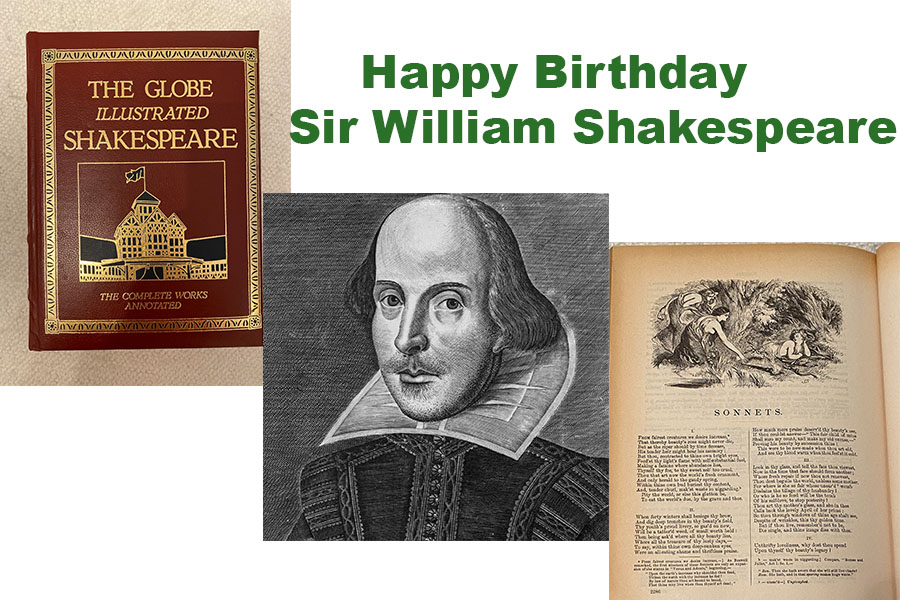 In+celebration+of+Sir+William+Shakespeare%27s+457th+birthday%2C+students+and+faculty+members+contributed+their+favorite+of+his+sonnets.