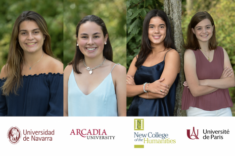 Four seniors will attend college abroad in the fall.