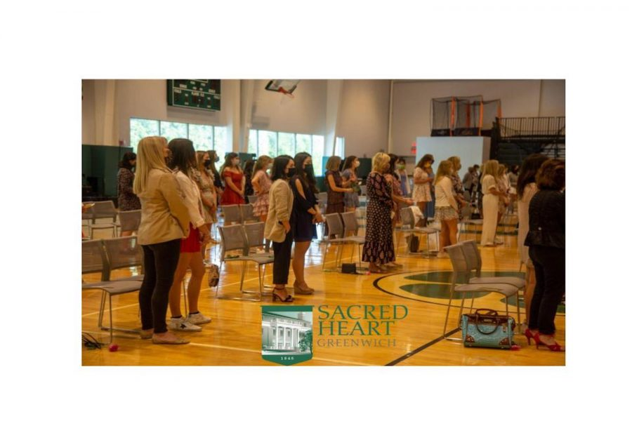 In light of COVID-19 measures regarding social distancing, only the senior class was in physical attendance for the annual Mother Daughter liturgy tradition.