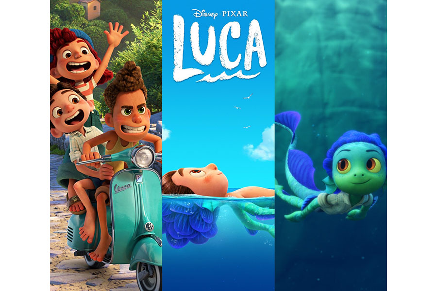 The animated film, Luca, explores themes of acceptance while following the adventures of two sea creatures.